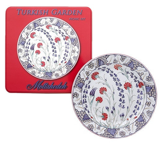 Mottahedeh Turkish Garden Picnic Tin Plates-Set of 4 - GDH | The decorators department Store