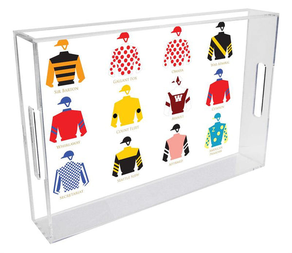 Jockey Silks Triple Crown Tray