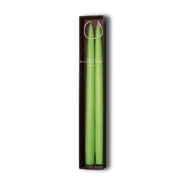 Beeswax Tapers - 4 sets of 2 by Creative Candles | Lime Green