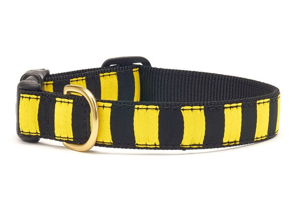 Black Yellow Stripe Dog Collar - GDH | The decorators department Store