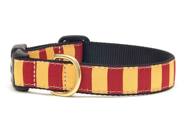 Garnet Gold Stripe Dog Collar