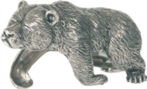 Sleeping Bear Pewter Napkin Ring  S/4 - GDH | The decorators department Store