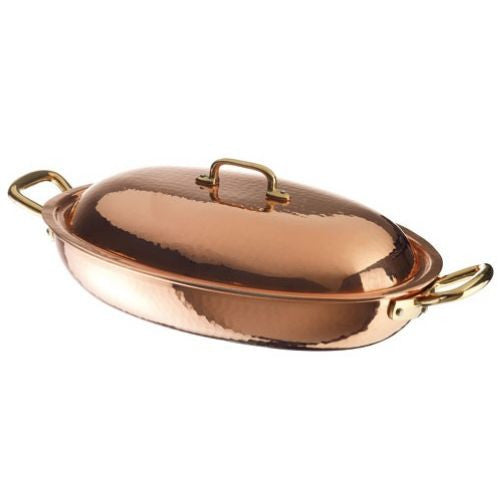 Copper Oval Vegetable Pan with Lid - GDH | The decorators department Store