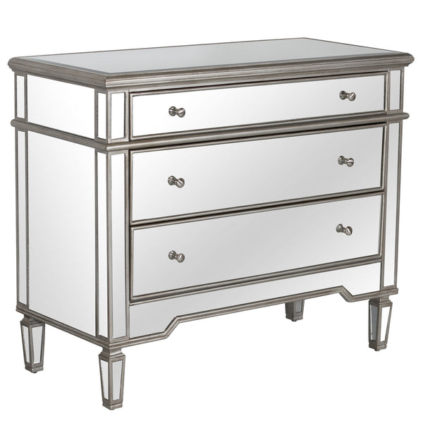 Cary Mirrored Chest - Silver - GDH | The decorators department Store