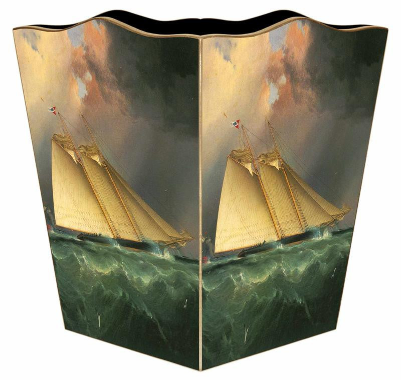 Schooner Wastebasket - GDH | The decorators department Store