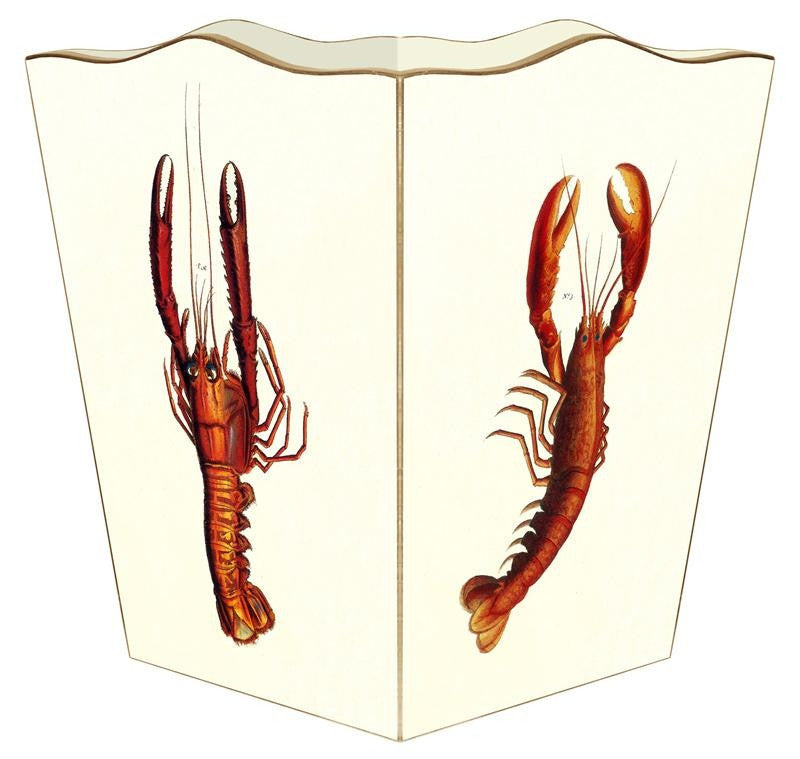 Antique Lobsters Wastebasket - GDH | The decorators department Store