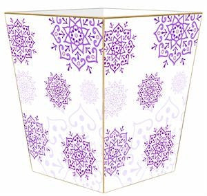 Purple Mehndi Wastebasket - GDH | The decorators department Store