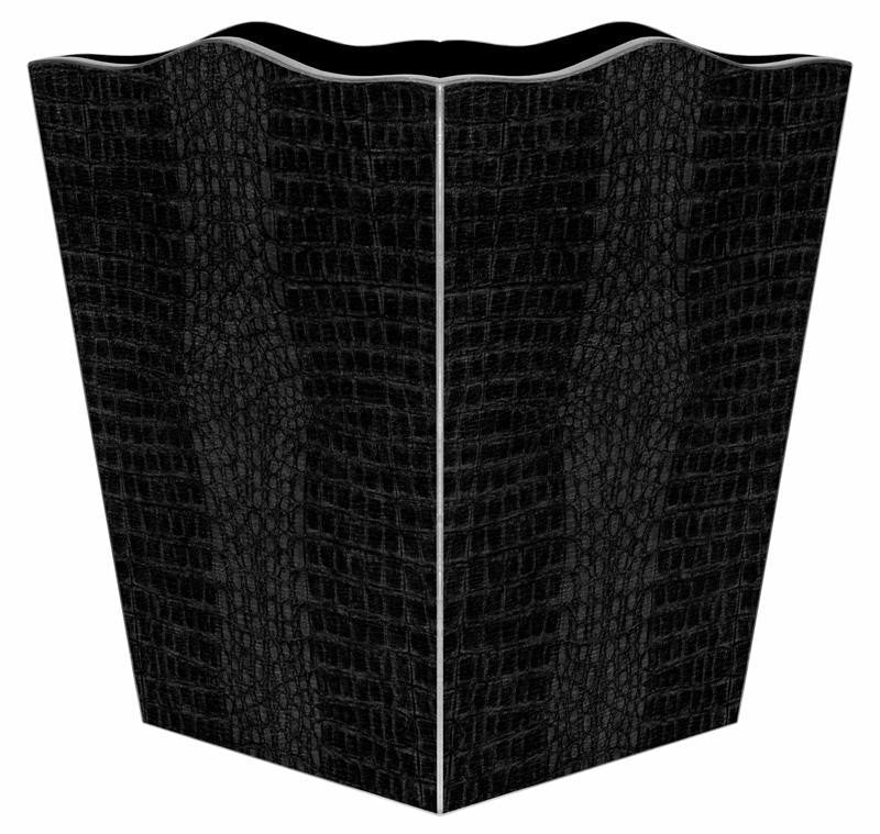 Black Crock Wastebasket - GDH | The decorators department Store