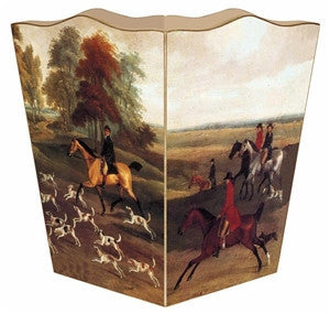 English Hunt Scene Wastebasket - GDH | The decorators department Store