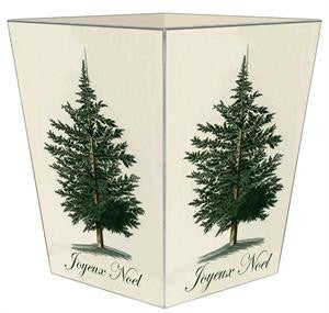 Antique Christmas Tree Wastepaper Basket