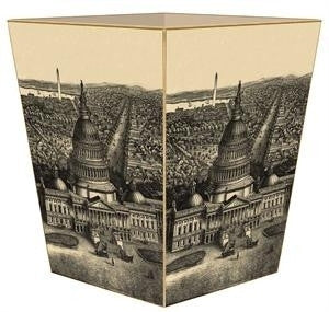 View of Washington D.C. Antique Map Wastebasket - GDH | The decorators department Store