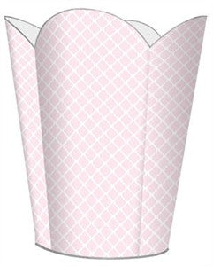 Chelsea Pink Wastebasket - GDH | The decorators department Store