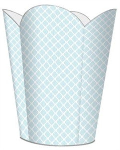 Chelsea Blue Wastebasket - GDH | The decorators department Store