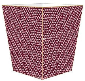 Berkely Cranberry Wastebasket - GDH | The decorators department Store