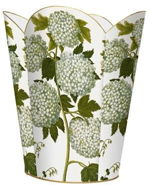 Pale Hydrangea Wastebasket - GDH | The decorators department Store