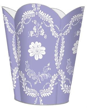 Lavender Provencial Wastebasket - GDH | The decorators department Store