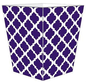 Chelsea Grande Purple Wastebasket - GDH | The decorators department Store