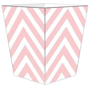 Pink Chevron Grande Personalized Wastepaper Basket - GDH | The decorators department Store