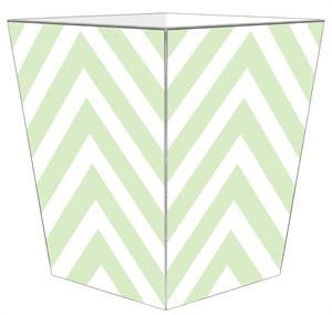 Mint Chevron Wastepaper Basket - GDH | The decorators department Store