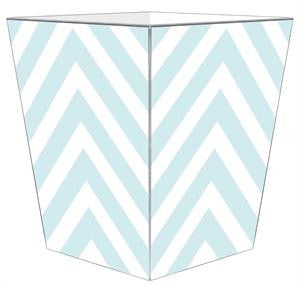 Light Blue Chevron Wastepaper Basket - GDH | The decorators department Store