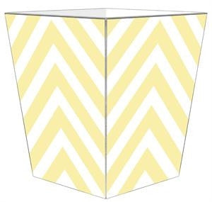 Butter Chevron Grande Personalized Wastepaper Basket - GDH | The decorators department Store