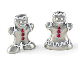 Pewter Gingerbread Couple Salt and Pepper Shaker Set - GDH | The decorators department Store