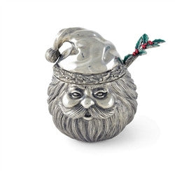 Santa Pewter Sugar Bowl and Spoon - GDH | The decorators department Store