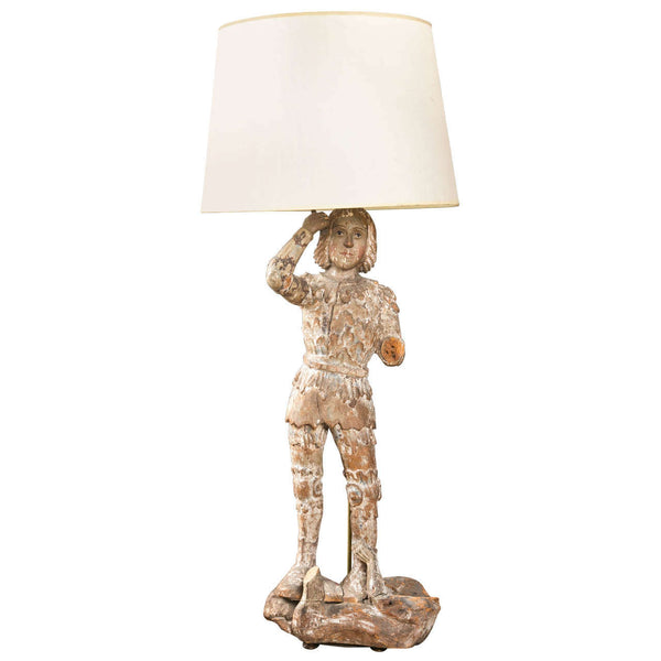 Large St. Michael Statue  Lamp