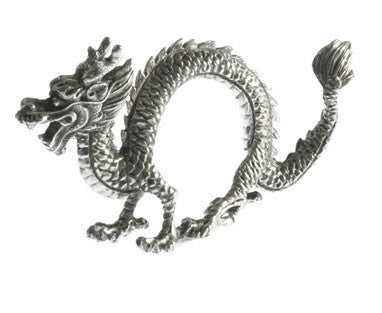 Pewter Dragon Napkin Ring-set of 4 - GDH | The decorators department Store