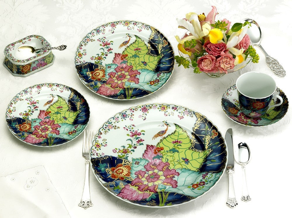 MOTTAHEDEH Tobacco Leaf Dinnerware Collection - GORE DEAN HOME