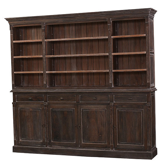 Hudson Open Bookcase in Cocoa