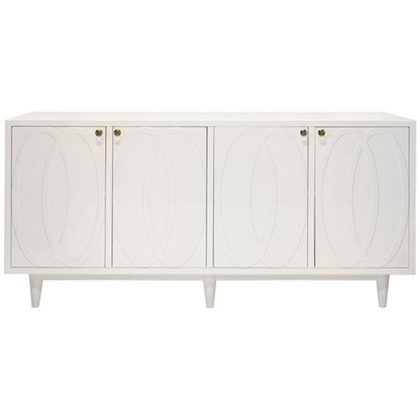 Mathis Buffet Cabinet in Matte White - GDH | The decorators department Store