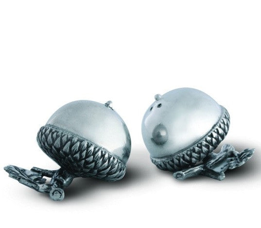 Pewter Acorn Salt and Pepper Shaker Set