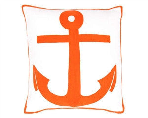 Orange- Admiral Tangerine Indoor/Outdoor Pillow - GDH | The decorators department Store