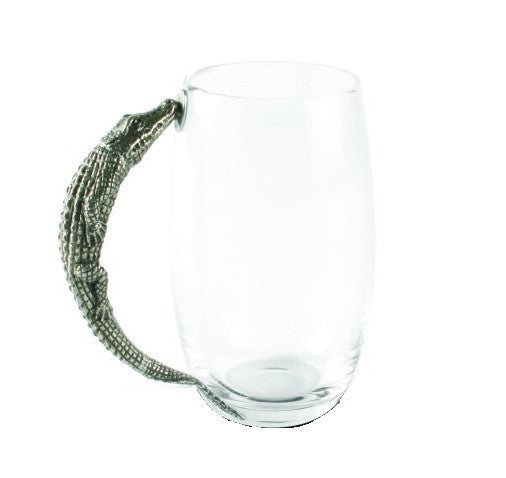 Alligator Glass Beer Mug
