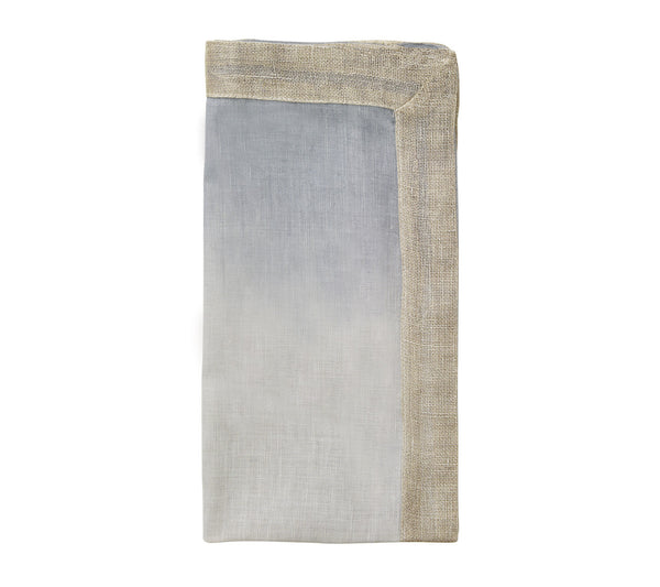 DIP DYE NAPKIN IN GRAY & SILVER S/4 - GDH | The decorators department Store - 1