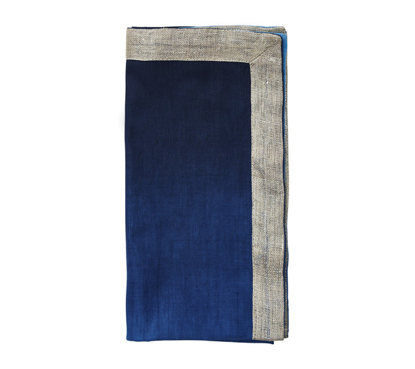 DIP DYE NAPKIN IN NAVY & BLUE S/4 - GDH | The decorators department Store - 1