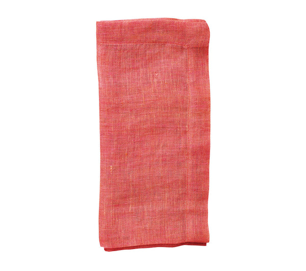 CHAMBRAY GAUZE NAPKIN IN SALMON S/4 - GDH | The decorators department Store