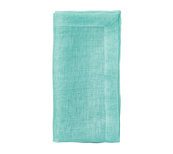 CHAMBRAY GAUZE NAPKIN IN SEAFOAM S/4 - GDH | The decorators department Store