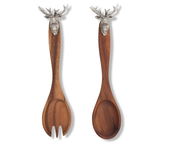 Elk Head Salad Servers