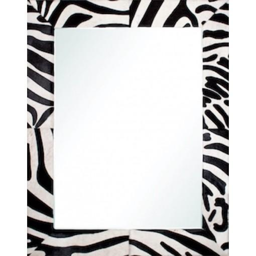 Black & White Hide Mirror by Barclay Butera