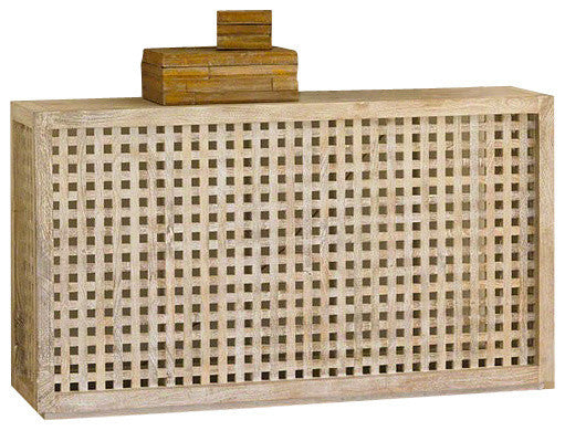 Driftwood Lattice Console - GDH | The decorators department Store
