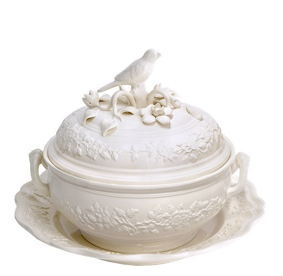 Mottahedeh Bird Tureen with Stand