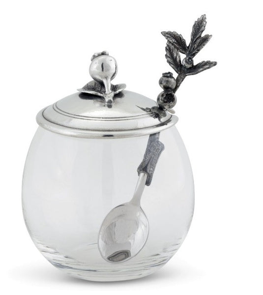 Blueberry Jam Jar with Spoon - GDH | The decorators department Store