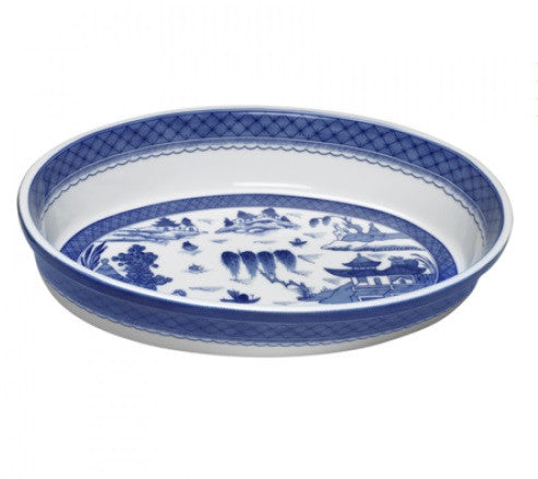 Mottahedeh Blue Canton Oval Baking Dish