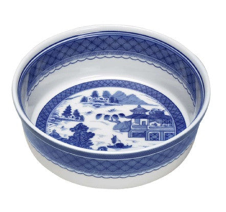 Mottahedeh Blue Canton Souffle Dish - GDH | The decorators department Store