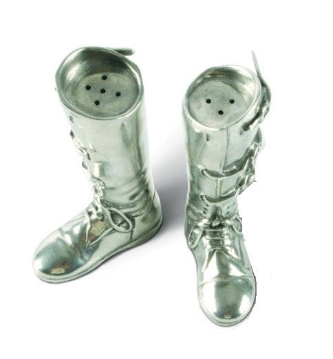 Pewter Riding Boot Salt and Pepper