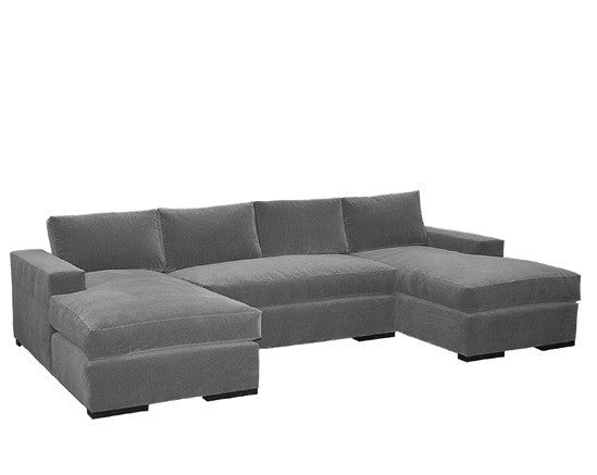 Block Arm Sectional Sofa
