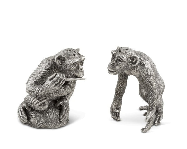 Pewter Chimp Salt and Pepper