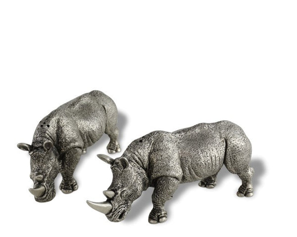 Pewter Rhinos Salt & Pepper Set